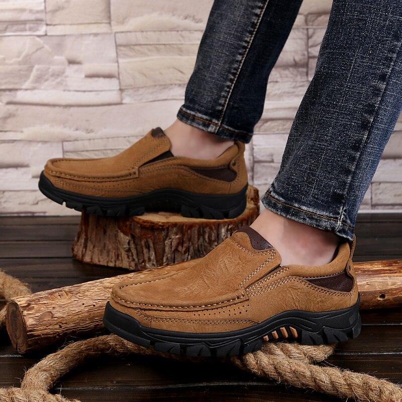 Libre Marrón De Aire Casuales Planos Mocasines caqui con Genuino Los Homme Northmarch Zapatos Cómodos Hombres Al Cuero amarillo Chaussures vAcaqdw