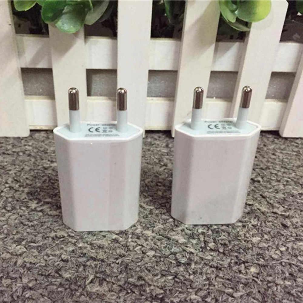 5.0V-1A الناتج الأوروبية USB الطاقة محول الاتحاد الأوروبي التوصيل السفر الحائط شاحن آيفون لسامسونج ل LG G5 carregador دي celular # Y3
