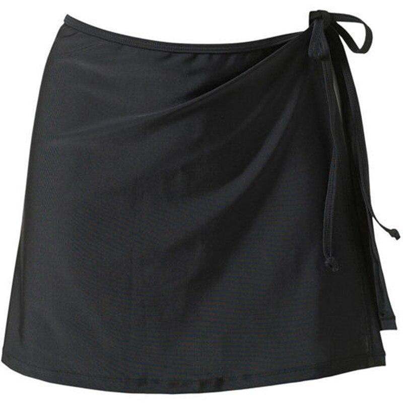 Fashion New Summer Women Tie Up Beach Cover Up Sexy Bikini Swimsuit Short Skirt Ladies Mid Waist Bodycon Wrap Solid Skirts