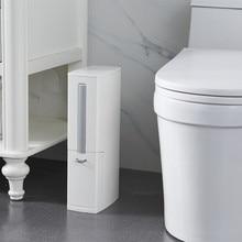 Narrow bathroom trash can with toilet brush toilet trash can with lid brush trash bag storage container plastic trash can trash