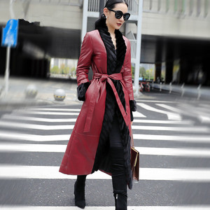 Image 2 - AYUNSUE אמיתי מעיל עור אמיתי מינק פרווה צווארון קוריאני למטה מעיל 2020 חורף מעיל נשים 100% ארוך כבש מעיל MY3743