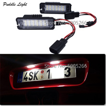 2pcs LED License Plate Light lamp for Porsche  987 987-2 Boxster 987C 987C2 Cayman 997-1 911 997-2 911  Carrera  997T 911 911 7a15 001