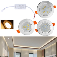 3W 5W 7W LED Spot Recessed Light Warm White Downlight LED Ceiling Downlight 2800-3200k Recessed Spot Lighting Indoor Living Room цена и фото