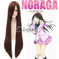 Noragami / Stray God Hiyori Iki Long Straight Dark Brown Anime Cosplay Wig+Wig Cap