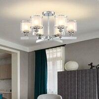 Modern Chandelier Chrome Metal Led Chandeliers Lighting Crystal Living Room Led Pendant Chandeliers Lights Bedroom Lights