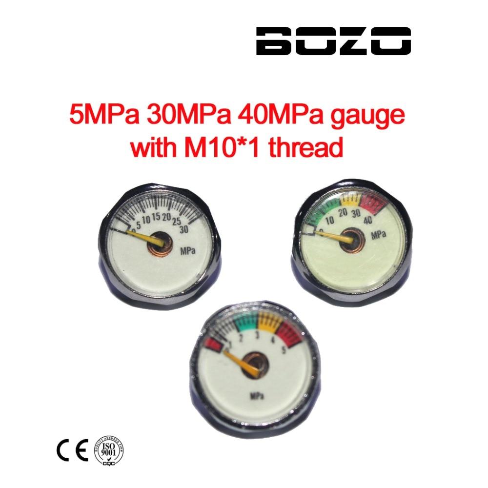 Paintball Airsoft PCP AirGun Mini 40MPa/30MPa/5MPa Manometer With Luminous Night M10*1 Gauge