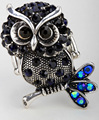 Stretch owl ring cute animal jewelry thanksgiving holiday gift for women girls