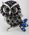 Trecho anel de coruja jóias animal bonito do presente do feriado de ação de graças para as mulheres meninas