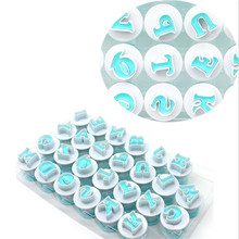 TTLIFE 10/26pcs Lowercase Alphabet Cookie Cutter Capital Letters Plastic Baking Moulds Fondant Cake Mold Dessert Decorating Tool