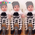 Keelorn Baby Clothing Sets 2017 Summer Style Baby Boy Clothes Funny moustache print short sleeve T-shirt+pants 2Pcs baby clothes