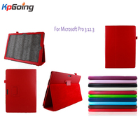 New For Surface Pro 3 Case Cover Stand Leather Case For Microsoft Surface Pro Tablet 12