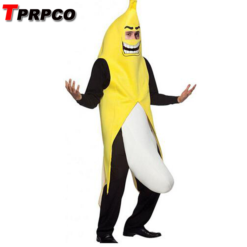 TPRPCO Men Cosplay Adult Fancy Dress Funny sexy Banana Costume novelty halloween Christmas carnival party decorations NL1511