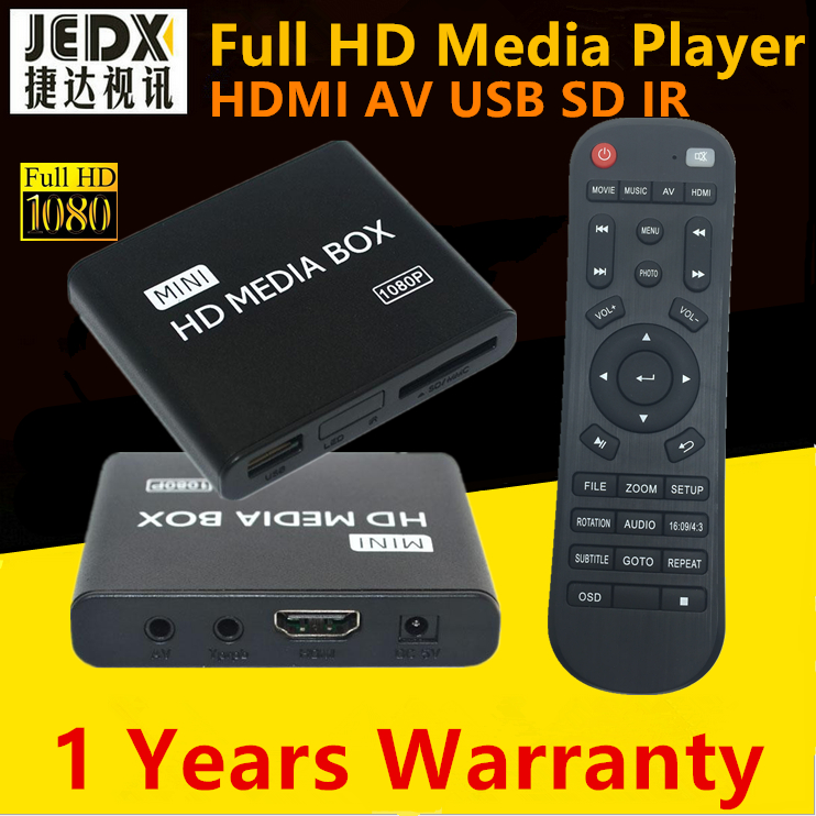 Full HD 1080P Media Player,Digital Signage Player,Adverting player box,HDMI,AV output,SD ...