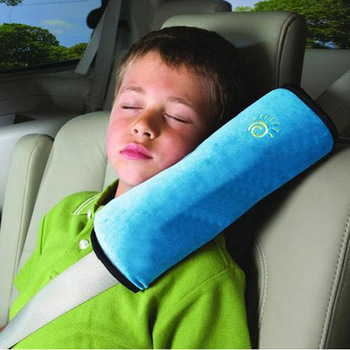 1pcs Children/Child Car Soft Headrest Baby Vehicle Safety Seat Belts Pillows Strap Soft Shoulder Pad Cushion Neck Seatbelt image