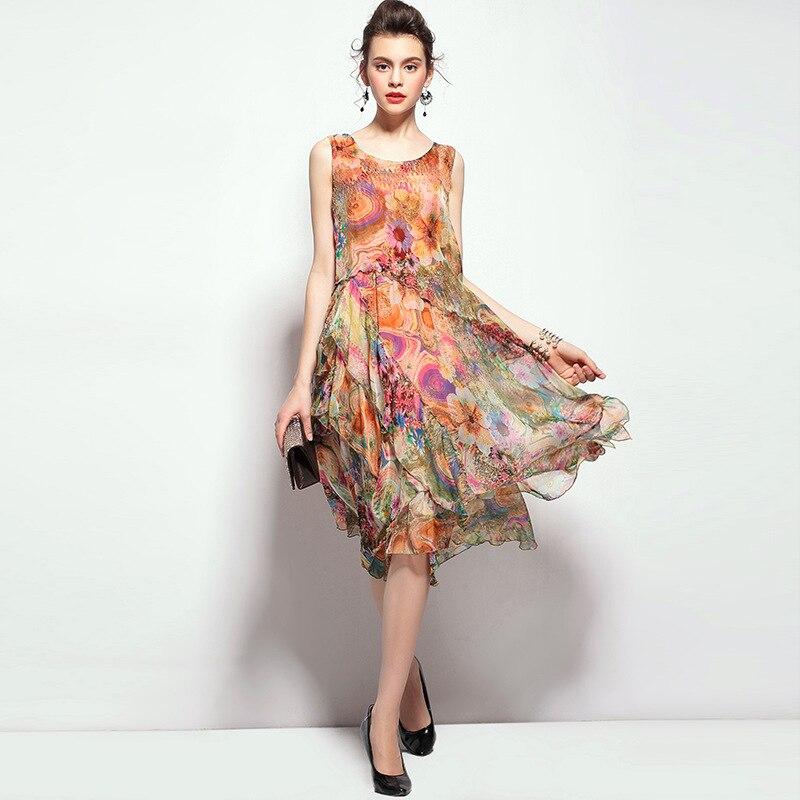 Aliexpress.com : Buy 100% silk dress brand new 2016 summer dress ...