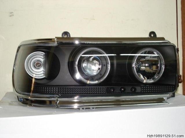 1 paire Prado 4500 LC80 FJ80 LED Ange Yeux Phare 1990 1991 1992 1993 1994 1995 1996 1997 année RC Noir/argent accessoires de voiture - 2