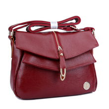 Free Shipping 2016 Genuine Leather Womens Handbags Fashion Messenger Bag Shoulder Ladies Crossbody Bags High Quality