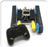 1Set DIY Tank Chassis Handmade Educational Electric Robot Tracked Car Chassis + Remote Controller+Motor+Battery Case Kit