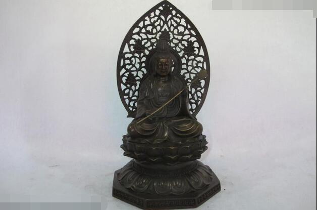 14Chinese Buddhism Bronze Hold lotus Kwan Yin Bodhisattva Buddha Guanyin Statue14Chinese Buddhism Bronze Hold lotus Kwan Yin Bodhisattva Buddha Guanyin Statue