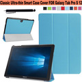"""Classic Ultra Slim Lightweight Folio Cover PU Leather Smart Shell Stand Case for Samsung Galaxy TabPro S 12"""" Tablet SM-W700"""