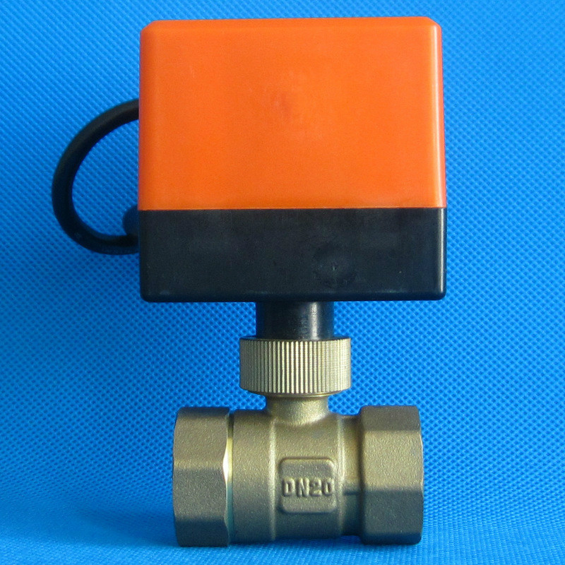 3/4 DN20 220V Electric Ball Valve  Brass Motorized Ball Valve Three line two way control  valve