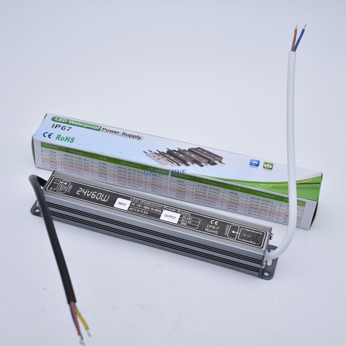 DC 12 V 24V Power supply electronic transformer 20W 30W 40W 50W 60W 80W 100W 150W 200W 300W LED Lamp Driver IP67 12V 24V Strip