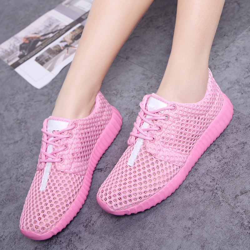 Mesh Sneakers Tenis Casual-Shoes Flat-Trainers Feminino Plus-Size Woman Lycra Couple