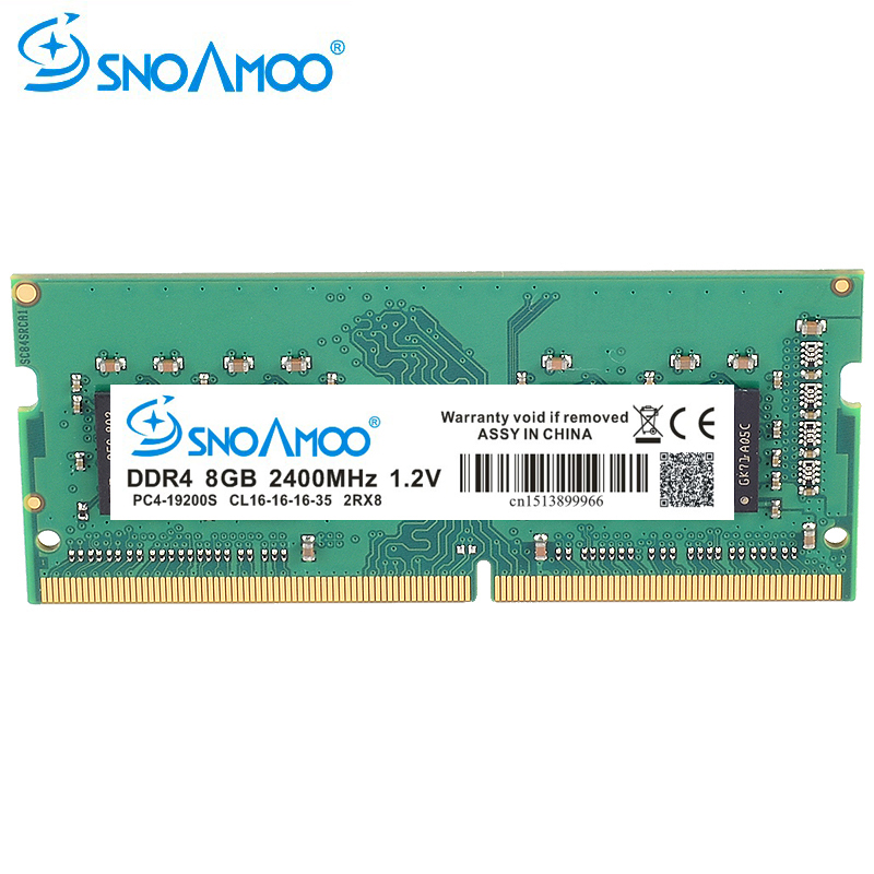 Ordinateur portable SNOAMOO DDR4 RAM mémoire 8 GB 2133 MHz 2400 MHz SO-DIMM pour ordinateur portable Memoria haute Performance RAMs