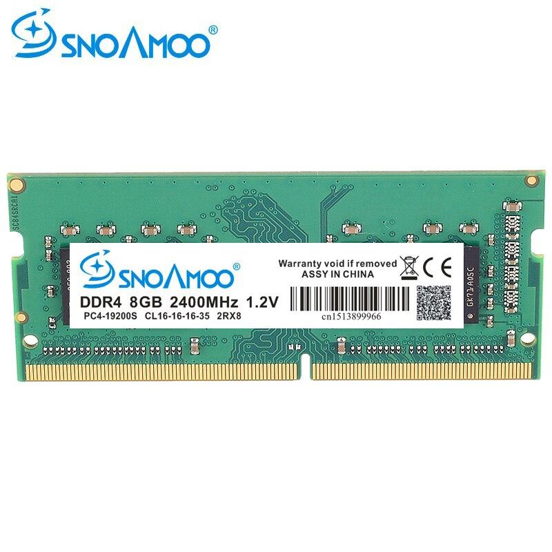 Ordinateur portable SNOAMOO DDR4 RAM mémoire 8 GB 2133 MHz 2400 MHz SO-DIMM pour ordinateur portable Memoria haute Performance RAMs
