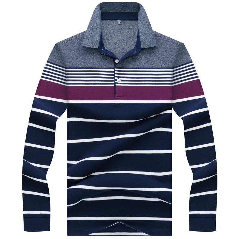 Casual & business men's   polo   shirt long sleeve 2019 Spring   polo   homme cotton striped mens   polo   shirt brands Tace & Shark   polos