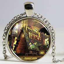 Gravity Falls Mystery Shack Handmade Fashion Trendy Necklace brass silver Pendant steampunk Jewelry Gift women new chain toy men