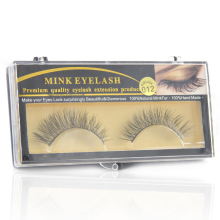 1 Pair Handmade Winged Mink False Eyelashes Popular Super Long Eyelash for Beauty Makeup-EM012