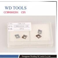 شحن مجاني 2 PCS CCMW060204 CBN إدراج ، CNC CBN الماس إدراج ل عدة المخرطة ل SCLCR/SCKCR/SCZCR تحول أدوات-في أداة تحويل من أدوات على