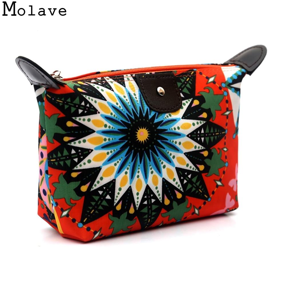 New Fashion Design Women Floral Print Cosmetic Toiletry Travel Wash Make Up Bag Storage Bags Clutch Handbag 2017 33May4