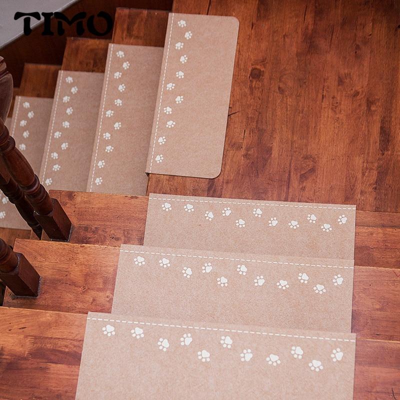 TIMO Home Stair Carpet Step Pad Bape Mat Warm Anti-slip Floor Night light Mat Safety Children Carpet Footprint Pattern Carpet
