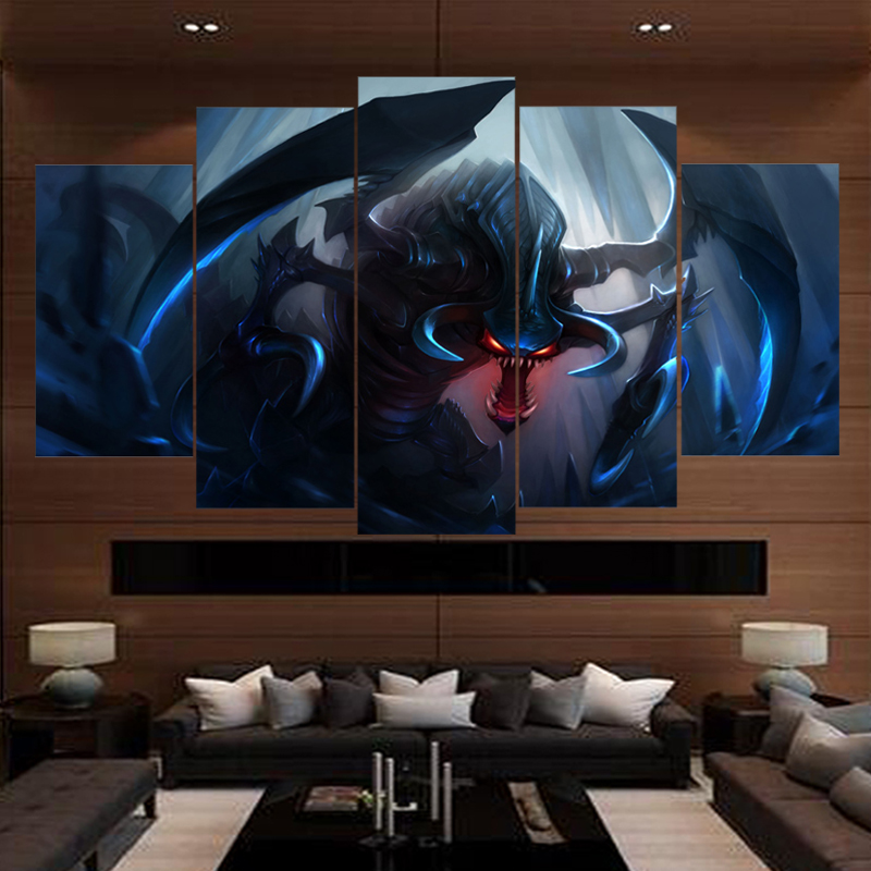 5 Piece Game League of Legends Canvas Art HD Print Painting Wall For Living Room