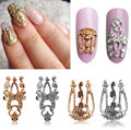 Charm 10 Pcs 3D Hollow Nail Art Alloy Tips Decoration Jewelry Glitter Rhinestones UV Gel Deco