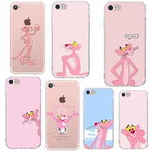 Hot Smartphone Phone case for iphone 6 s 7 8 Plus X Case luxury Cute Pink panther women Back Cover 5s se 5 Coque Capa