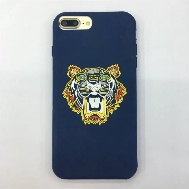 High Quality Tiger Head 3d Stereo Silicon Design Case For Iphone 7