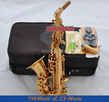 Electrophoresis Gold Curved Soprano Saxophone Bb key to High F key and G Key