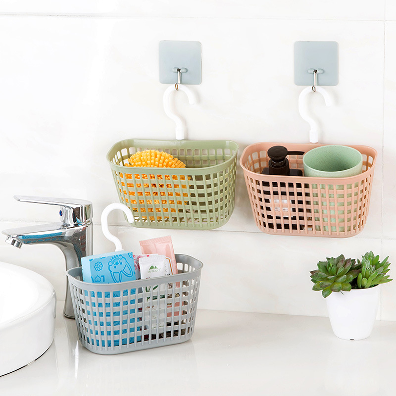 Home Kitchen Hanging Basket Storage Bin Toy Box Drain Bag Basket Bath Storage Tool Sink Holder  Soap Holder Bathroom Organizer