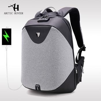 ARCTIC HUNTER New men 's anti - theft shoulder bag multi - functional computer bag college students bag business travel backpack