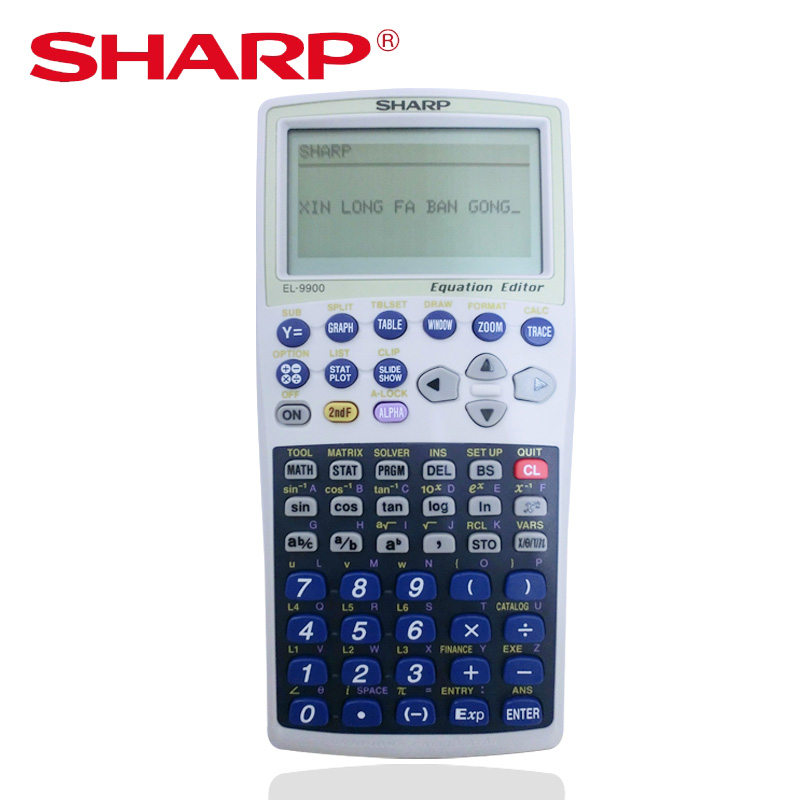 SHARP EL-9900W Graphing Calculator Financial Calculation Chart Function Logic Drawing Calculator image