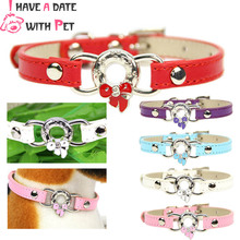 Personalized Leather Small Dog Collar Cute Bow pattern decoration Puppy Strap Cat Necklace Kitten Collars Dccessorie XXS/XS