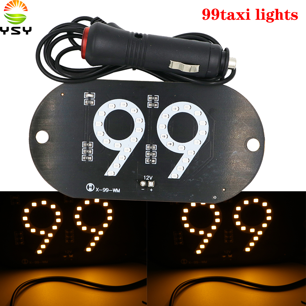 YSY 10X NEW 99pop Taxi Led Car Windscreen Cab indicator Lamp Sign Yellow LED Windshield Taxi