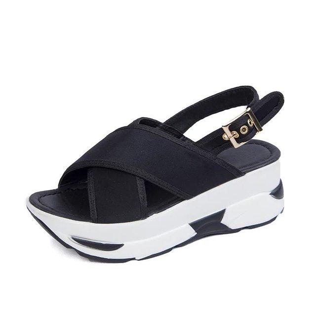 5eb57470f86 Platform Sandals Women Summer Sport Casual Sandals Mesh Breathable Shoes  Ladies Platform Sandals Wedges Women sandale femme 2100