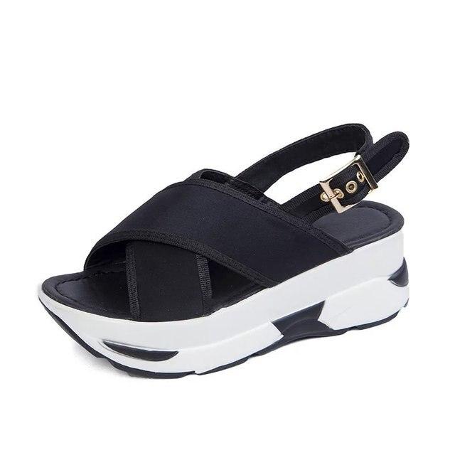 Damen 65plattform Schuhe 2100 Mesh Atmungsaktive In Sport Sommer Plateau Frauen Keile Sandalen Femme Sandale Casual Us14 hsrtdxQC