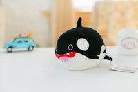 שחור קטן חמוד בפלאש צעצוע כריש קריקטורה שומן רוצח לווייתן בובת מתנת יום הולדת כ 20 ס