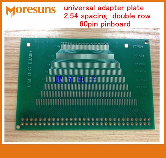 Fast Free Ship 10PCS Strongest LCM,TFT LCD universal test board,universal adapter plate 2.54 spacing double row 60pin pinboard