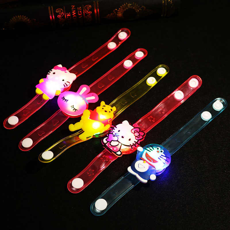 New glossy bracelet Colorful flash Crystal Magic Stretch Ball For kids Child Brinquedos Light-Up Toys Wrist glow